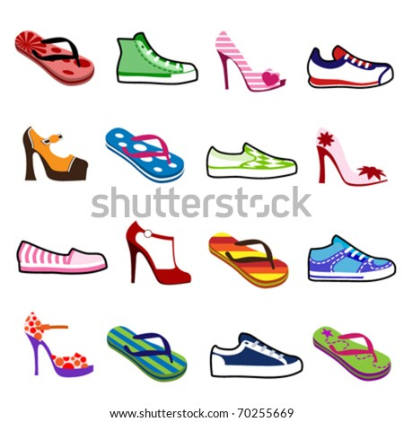 shoes for man and woman - stock vector