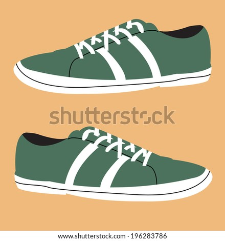 Shoes icon - stock vector