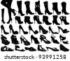 Shoes illustration isolated on white - stock photo