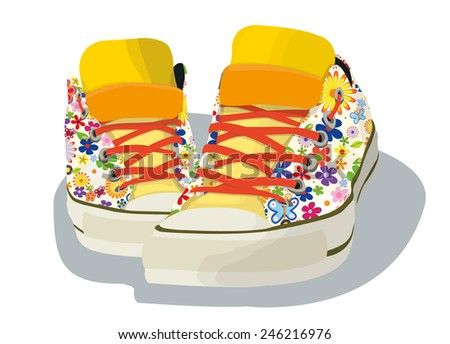 shoes parade - stock vector