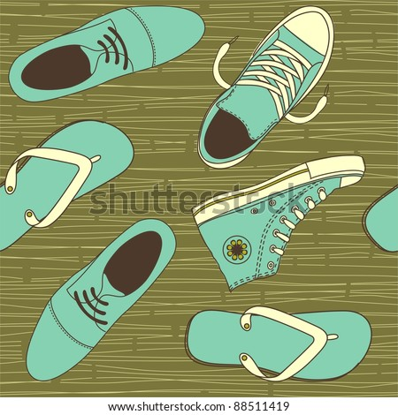 shoes seamless - stock vector