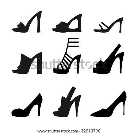 Shoes silhouette - stock vector