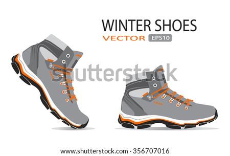 shoes. vector - stock vector