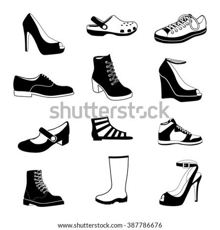 Shoes #1 vector - stock vector