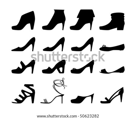 Shoes vector icon - stock vector