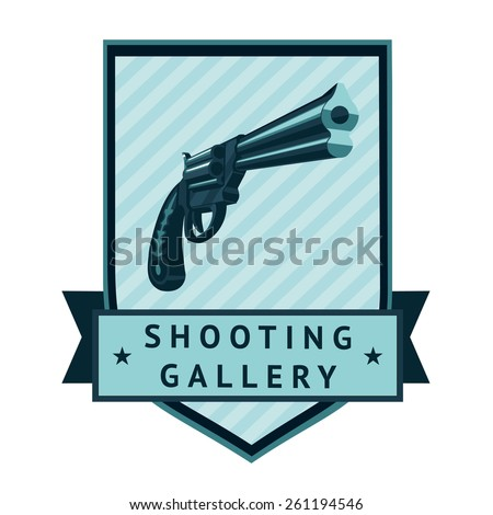 Shooting Gallery Logotype - stock vector