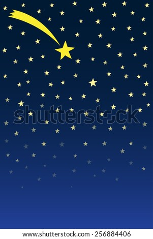 Shooting star background - stock vector