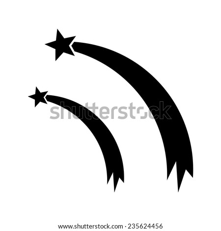 Shooting Star Silhouettes Shooting Star Vector