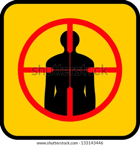 Shooting target for sport or military design. - stock vector