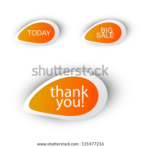 Shop bubbles vector, easy color and text editable - stock vector