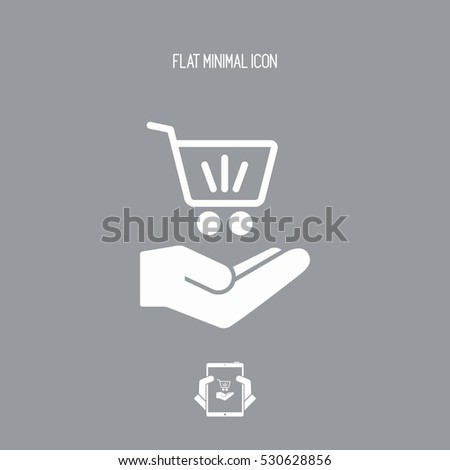 Shop cart - Minimal modern icon