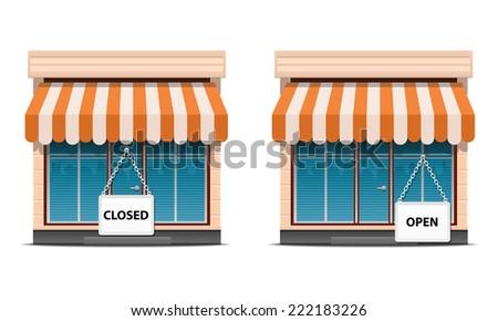 Shop icon set - stock vector