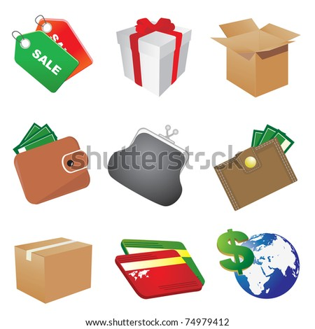 Shop icons. Vector illustration - stock vector