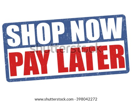 Shop now pay later grunge rubber stamp on white background, vector illustration - stock vector