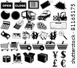 Shop pictogram icons 1 - stock photo