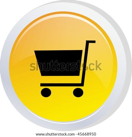 shop sign icon button - stock vector