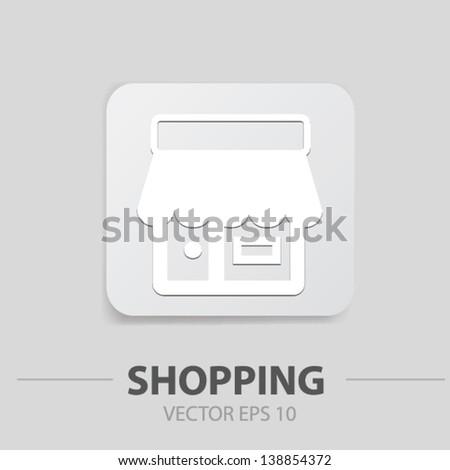 Shop sign,vector - stock vector