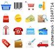 shop web icons - vector illustration - stock vector