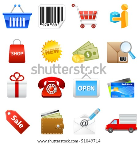 shop web icons - vector illustration - stock vector