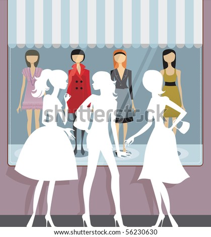 Shop window - stock vector