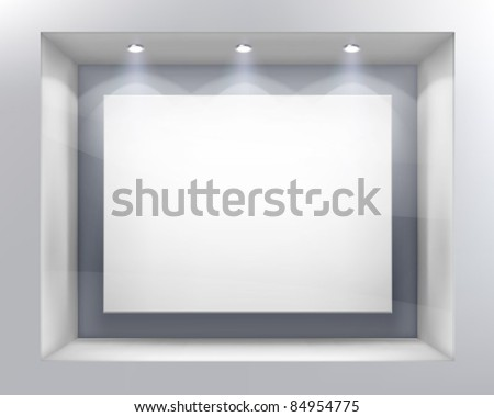 Shop window. Vector illustration. - stock vector
