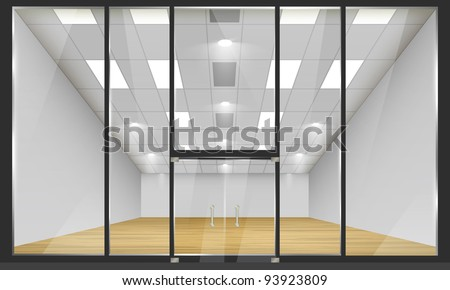 Shop glass windows doors front view stock vector 2018 93923809 shop with glass windows and doors front view part of set vector exterior planetlyrics Images