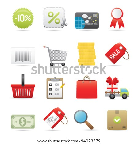 Shopping And Consumer Icons Set