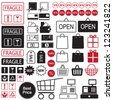 Shopping and sale icon set - stock vector