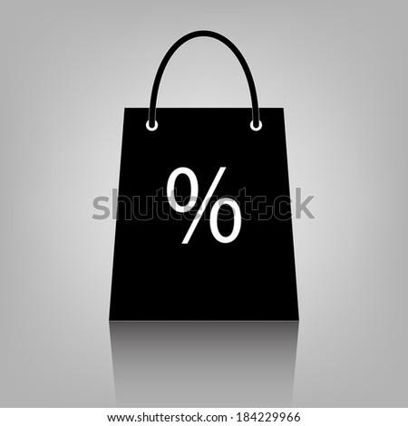 shopping bag icon. vector - stock vector