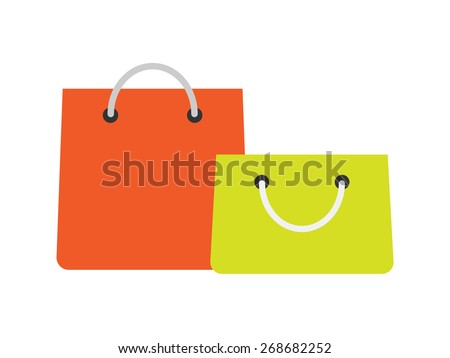 Shopping Bag Icons - eCommerce, Store, Sale Vector illustration