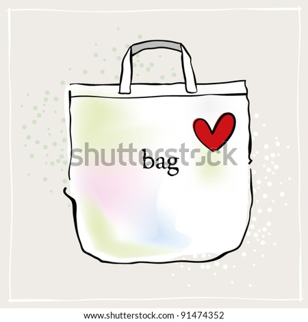 Shopping bag illustration - stock vector
