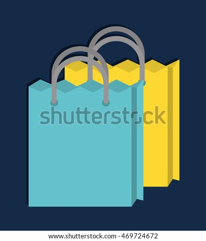 shopping bag online store market icon. Flat and Colorfull illustration. Vector graphic