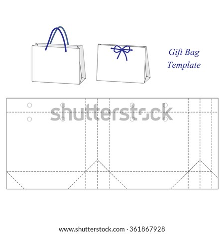 shopping bag template Shopping Bag Template Blank Stock Vector 361867928 - Shutterstock
