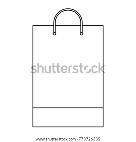 Shopping Bag Template Sample Business Stationery Stock Vector (2018 ...