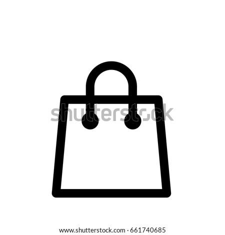 shopping bag vector icon stock vector 661740685 shutterstock rh shutterstock com shopping bag vector logo shopping bag vector illustration