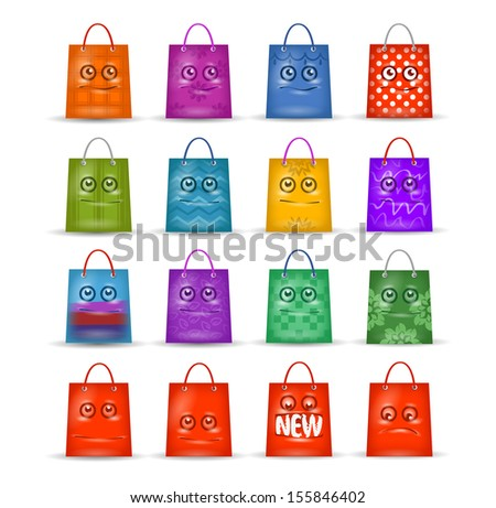 Shopping bags - stock vector