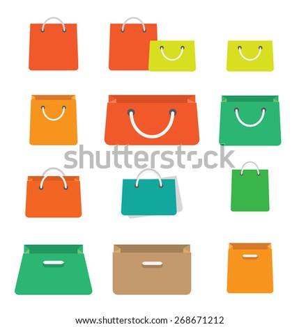 Shopping Bags - stock vector