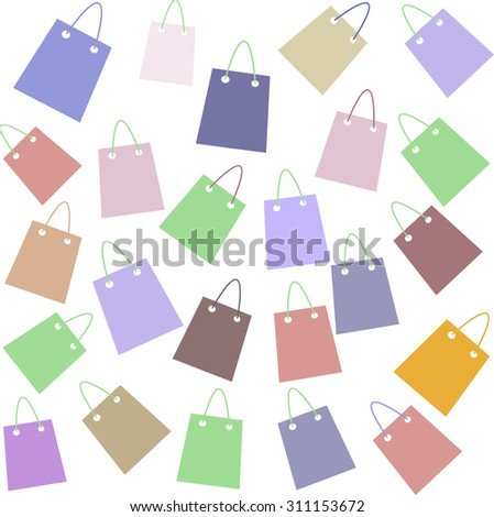Shopping bags pattern vector - stock vector