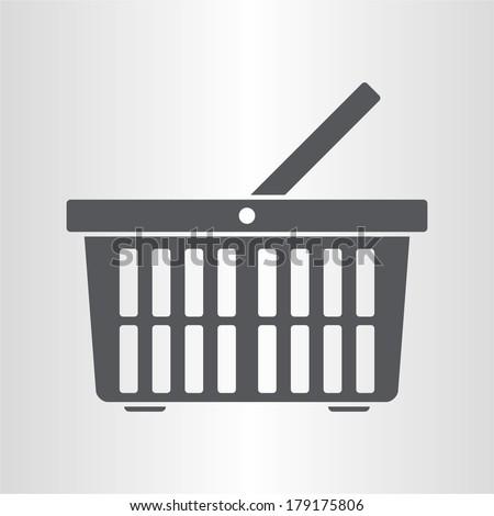 Shopping basket (icon) - stock vector