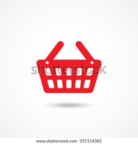 Shopping basket icon - stock vector