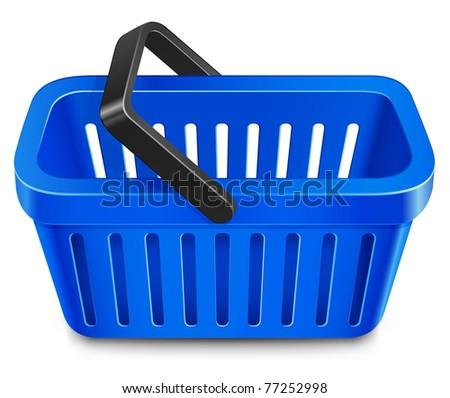 Shopping basket. Vector illustration - stock vector