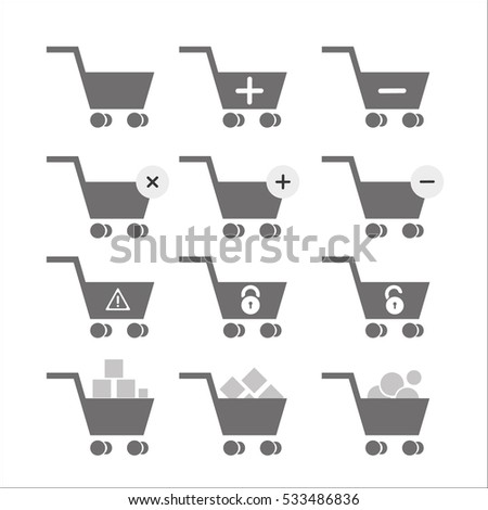 Shopping baskets icons