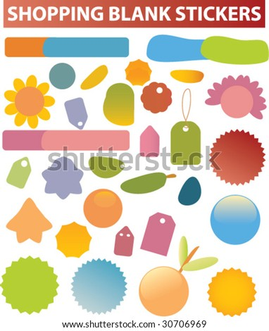 shopping blank stickers. vector. see more in my portfolio. - stock vector