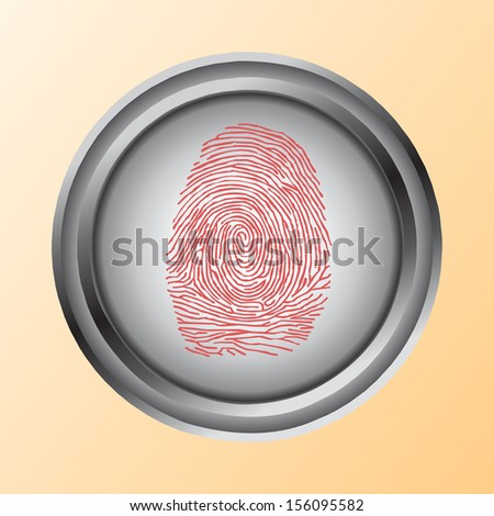 Shopping by finger Touch, ID Fingerprint scan Access icon - stock vector