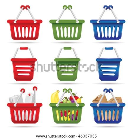 shopping cart concept - stock vector