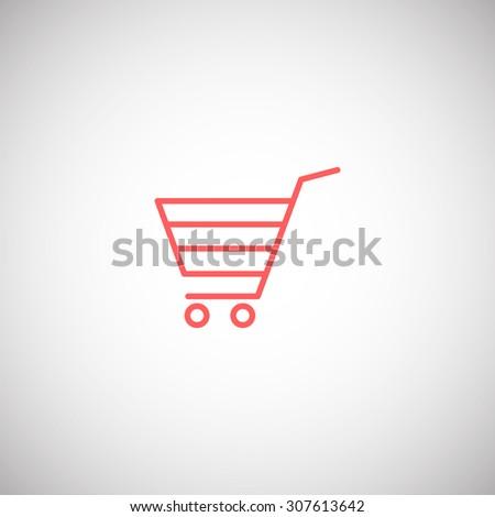shopping cart icon - stock vector