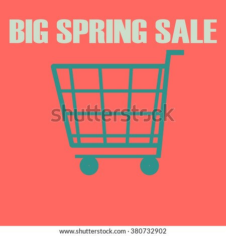 shopping cart icon.big autumn sale lettering