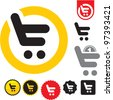 Shopping cart icon. e-shop sign. - stock photo