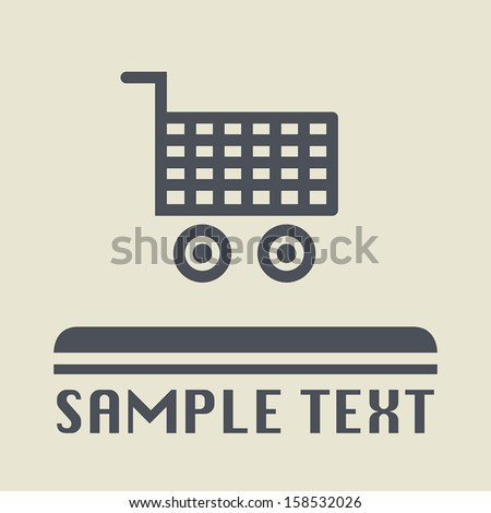 Shopping cart icon or sign, vector illustration - stock vector