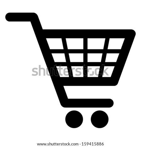 Shopping cart icon (Vector) - stock vector